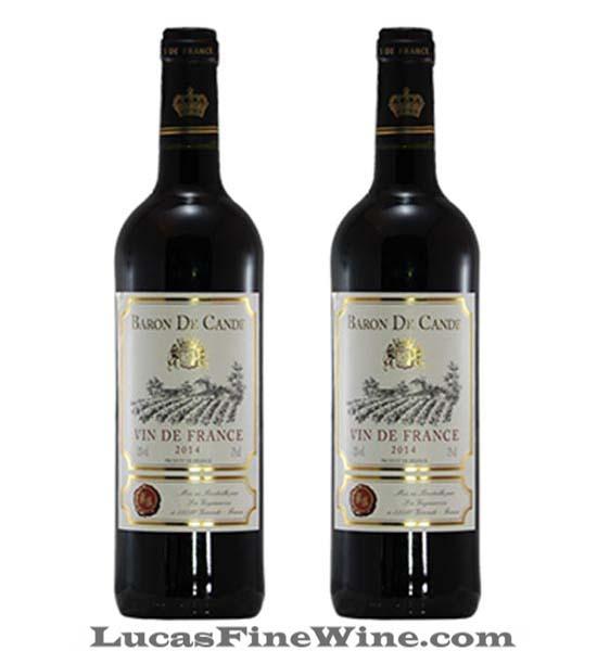 Rượu vang Pháp - Baron De Cande Red