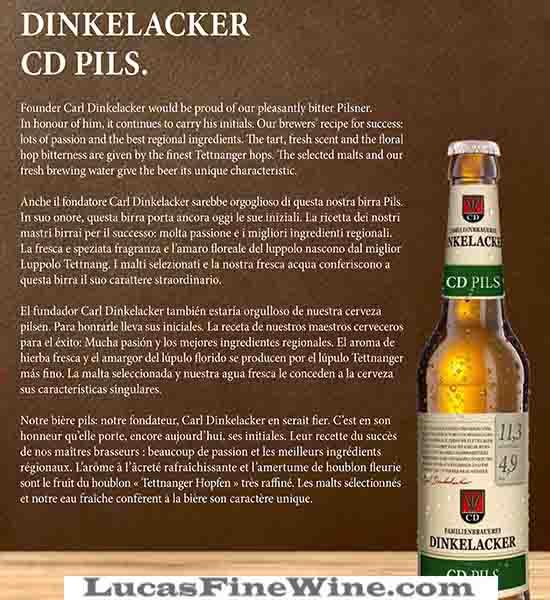 BIA NHẬP - Beer Đức Dinkelacker CD PILS - 2