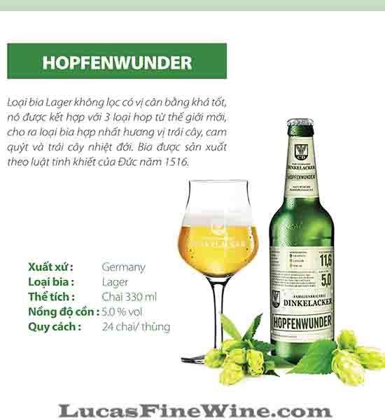 BIA NHẬP - Bia Đức Dinkelacker Hopfenwunder 330ml - 1