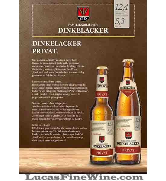 BIA NHẬP - Bia Đức Dinkelacker Privat 330ml - 1