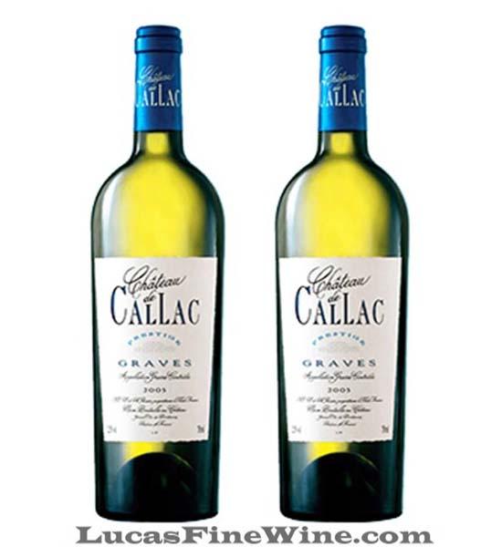 CHATEAU De CALLAC Prestige Blanc 2013