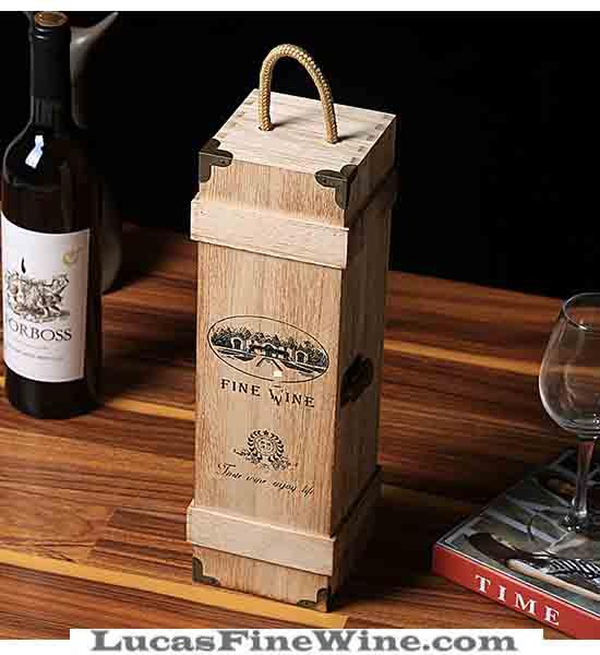 HỘP RƯỢU VANG bằng gỗ 01 chai