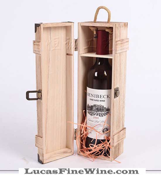 Rượu vang - HỘP RƯỢU VANG bằng gỗ 01 chai - 1