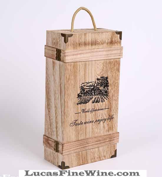 HỘP RƯỢU VANG bằng gỗ 02 chai