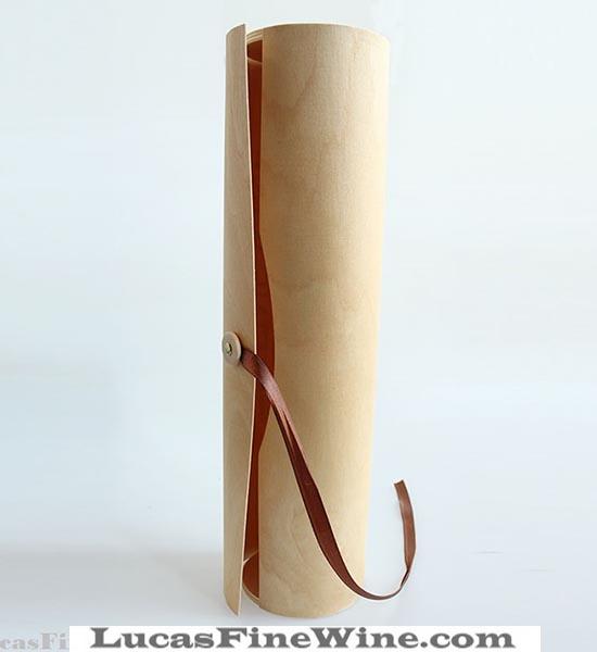 Rượu vang - HỘP RƯỢU VANG bằng gỗ tròn 01 chai - 1