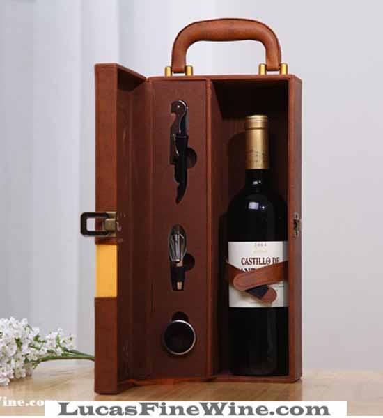 Rượu vang - SET Hộp da cao cấp 01 chai Cruz Prima - 1