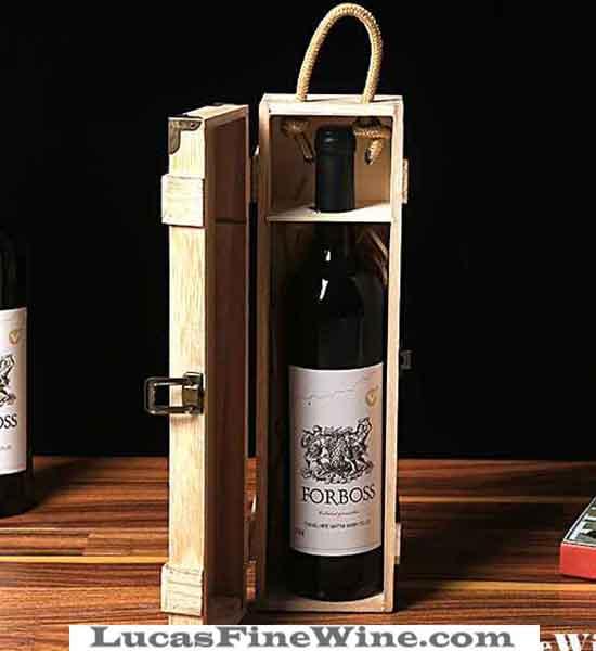 Rượu vang - SET Hộp gỗ 01 chai Baron De Cande - 1