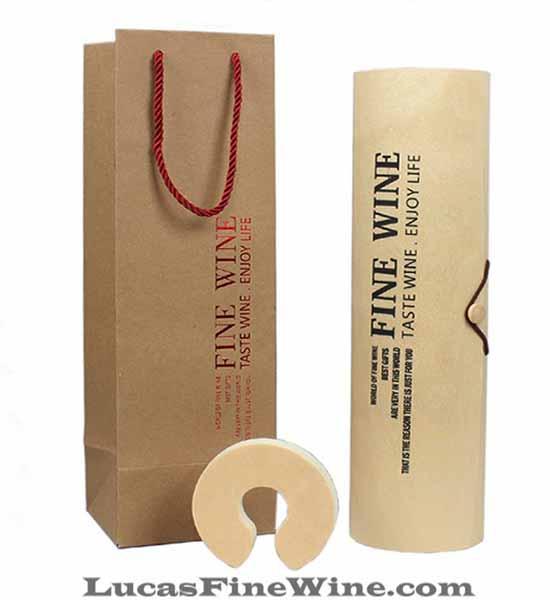 Rượu vang - SET Hộp gỗ tròn 01 chai Rioja Vega Limited - 1
